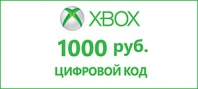 Подарочная карта Xbox 1000 рублей