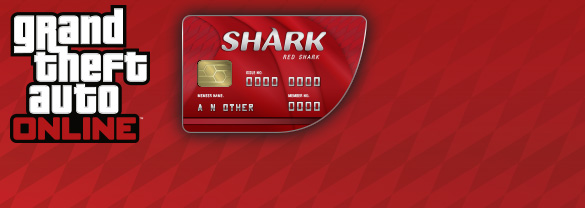 Grand Theft Auto Online : Red Shark Cash Card