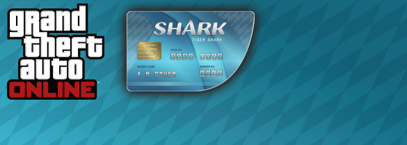 Grand Theft Auto Online : Tiger Shark Cash Card